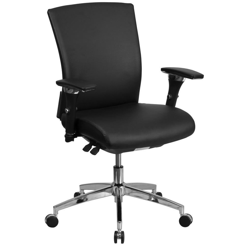 Carnegy Avenue Black Leather Office/Desk Chair