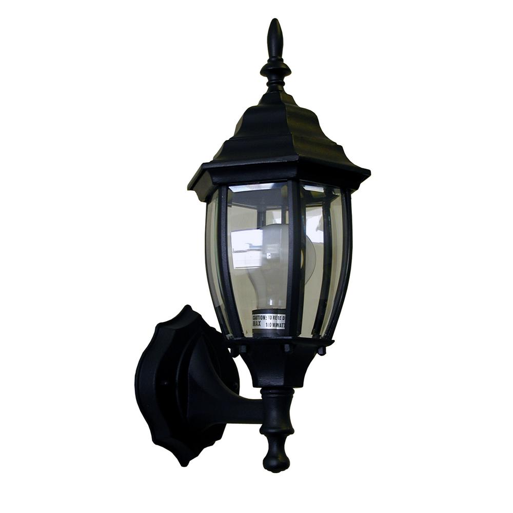 1-Light Black Outdoor Wall Sconce-OWL0303-BK - The Home Depot