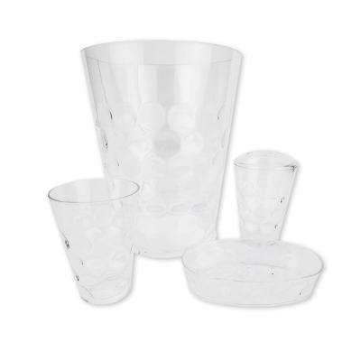 4-Piece Bath Accessory Set in Clear