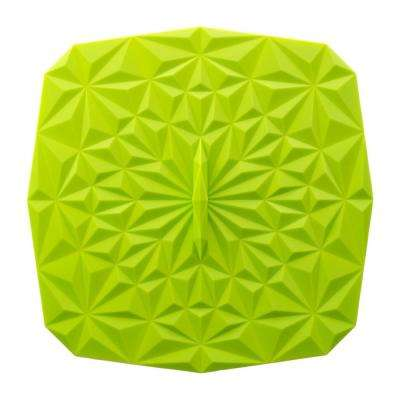 Rectangular Suction 9x9 Silicone Lid in Lime