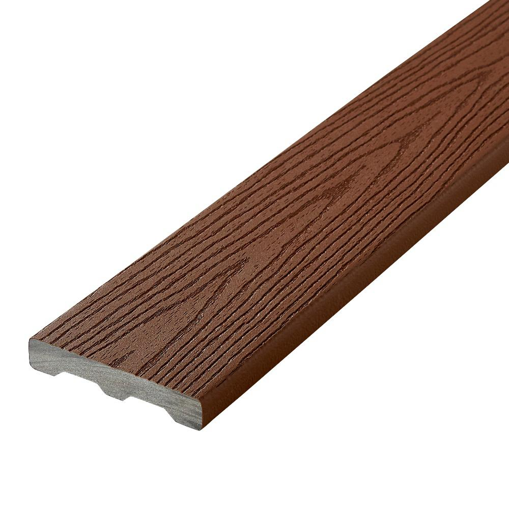 Fiberon good life 1 in x 5 1 4 in x 20 ft cabin square for Capped composite decking prices