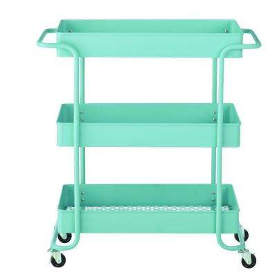 Steel Wide Open Cart in Matte Blue