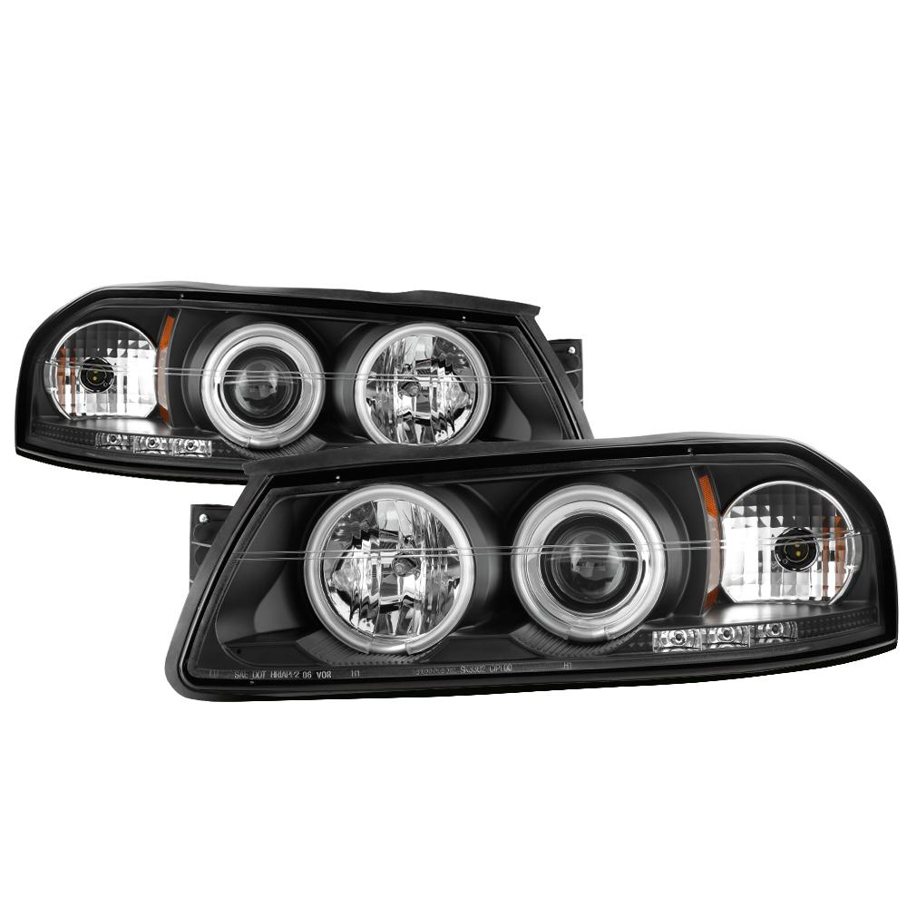 Chevy Impala 00 05 Projector Headlights Ccfl Halo Led Replaceable Leds Black