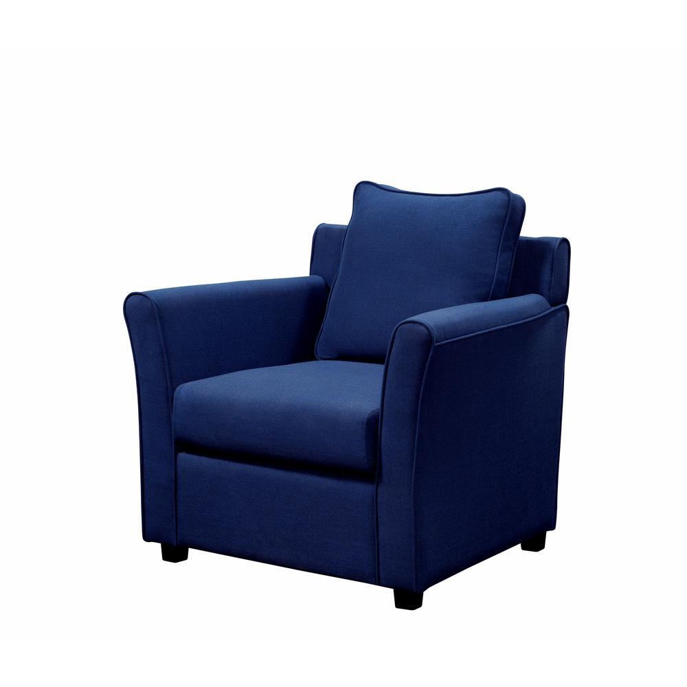 Beltram Royal Brown Woven Linen Accent Arm Chair