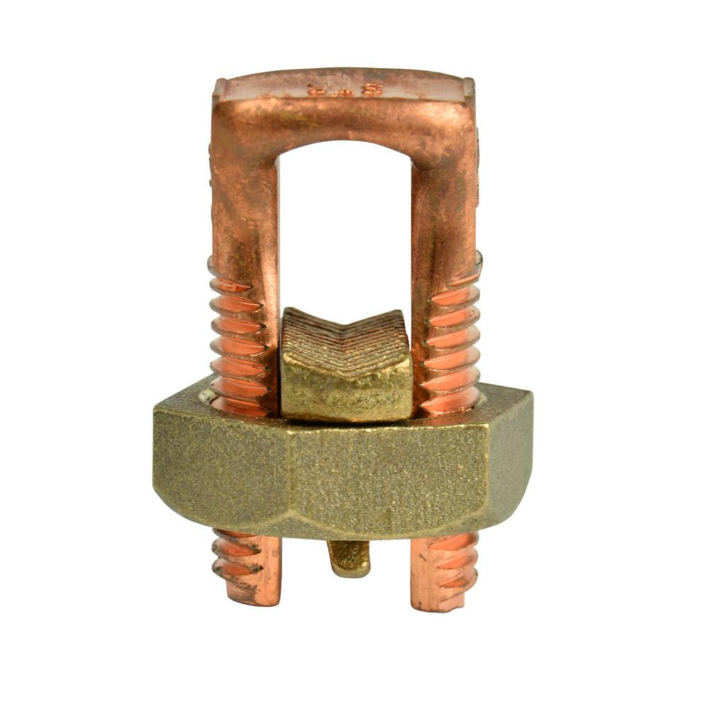 1/0 AWG Copper Split Bolt Connector (1-Pack) Case of 6