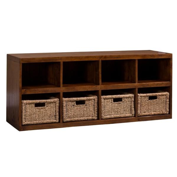 Tuscan Retreat Storage Cube with Baskets in Oxford