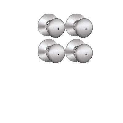Plymouth Satin Nickel Bed and Bath Knob (4-Pack)