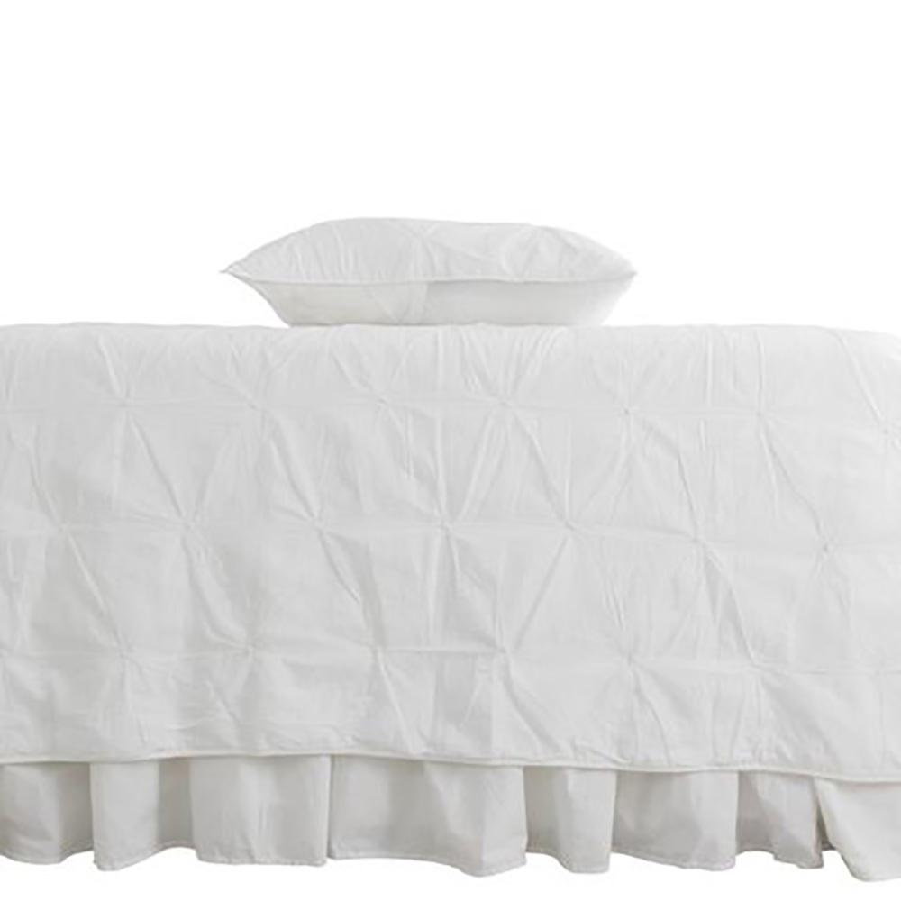 Trinity White King Quilt Set 29998 The Home Depot