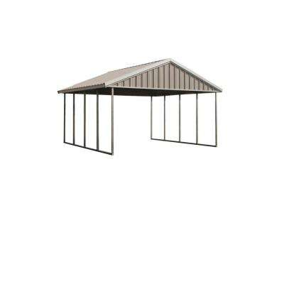 Premium Canopy 16 Ft. X 20 Ft. Ash Grey And Polar White All Steel
