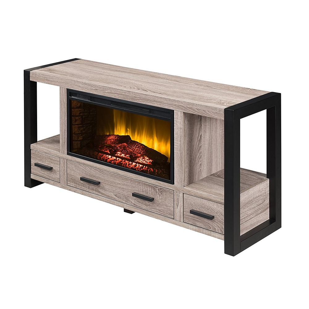 real flame marlowe 70 in freestanding electric fireplace tv stand in black 2770e bk the home. Black Bedroom Furniture Sets. Home Design Ideas