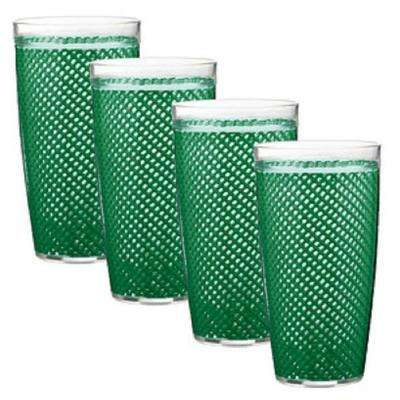 Fishnet 22 oz. Emerald Insulated Drinkware (Set of 4)