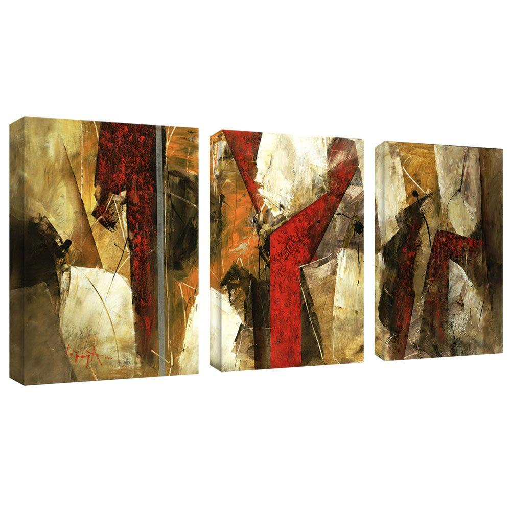 Trademark Fine Art 10 in. x 32 in. Abstract IV 3-Piece Canvas Art Set