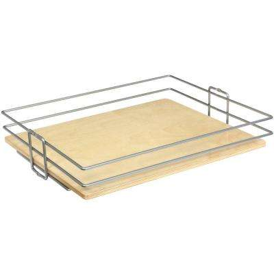 4.13 in. x 20 in. x 20.44 in. Wood and Wire Roll Out Baskets