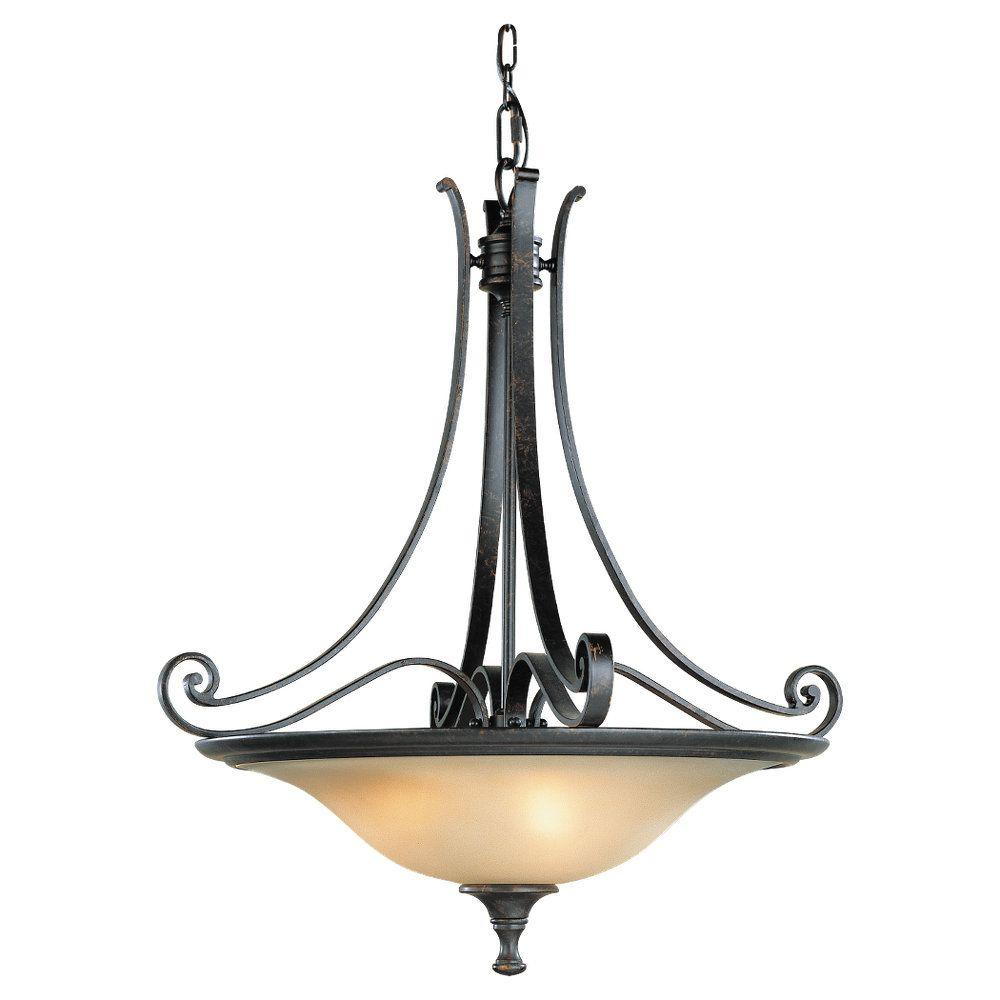 cervantes 3light liberty bronze uplight chandelier