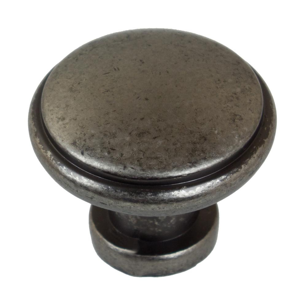 1-1/8 in. Dia Weathered Nickel Round Ring Cabinet Knob (10-Pack)