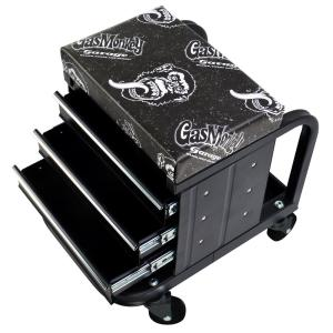 Click here to buy Gas Monkey Creeper Seat and Tool Box Combo - 3-Drawers Toolbox with 4 Rolling Casters - 450 lbs. Capacity by Gas Monkey.