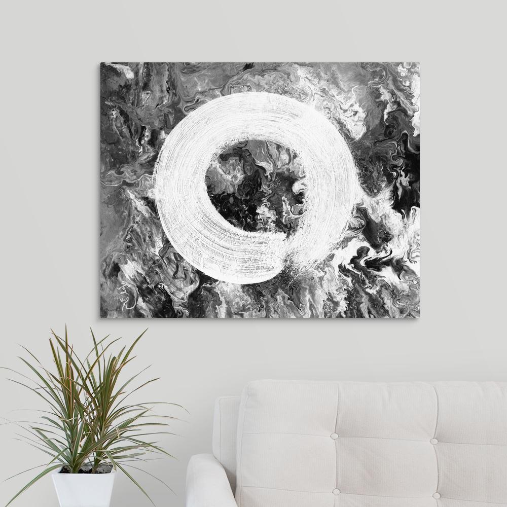 "30 in. x 24 in. ""Zen Universe"" by  Oi Yee Tai Canvas Wall Art"