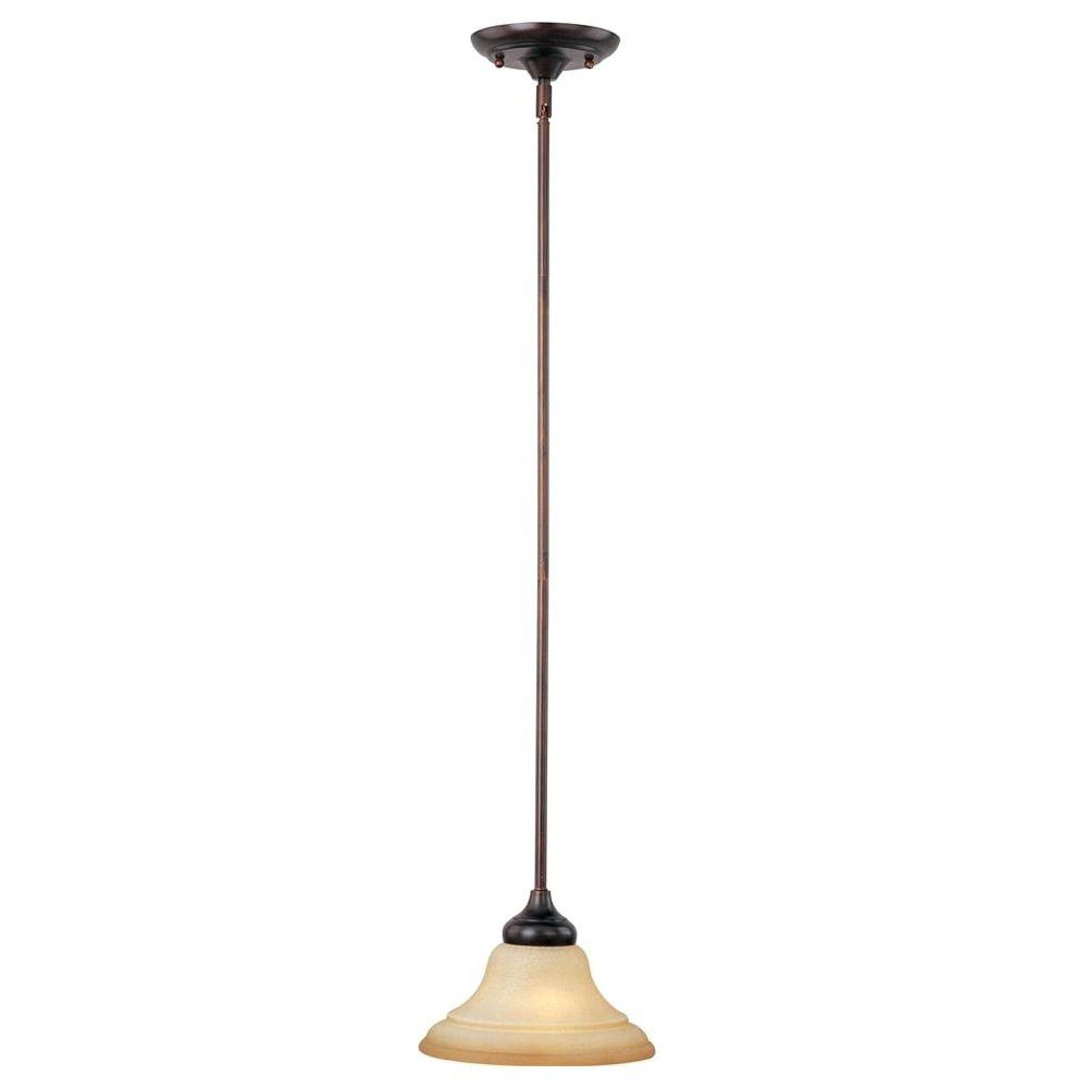 Oriax 1-Light Mini Pendant Wilshire Glass Oil Rubbed Bronze Finish-DISCONTINUED