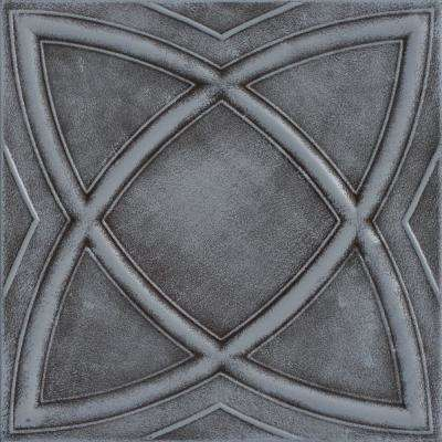 Elliptic Illusion 1.6 ft. x 1.6 ft. Foam Glue-up Ceiling Tile in Moss Gray