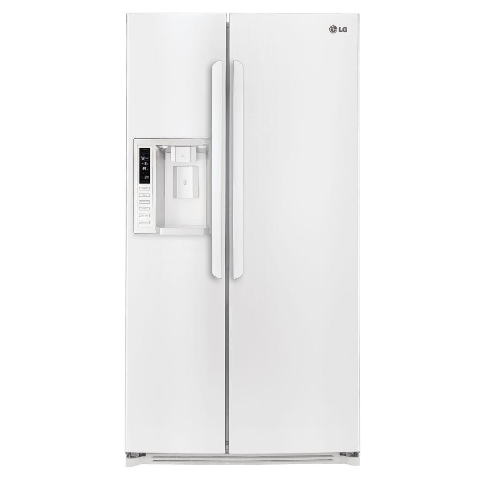 LG Electronics 26.5 cu. ft. Side by Side Refrigerator in Smooth White