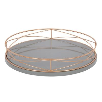 Mendel Gray/Rose Gold Decorative Tray