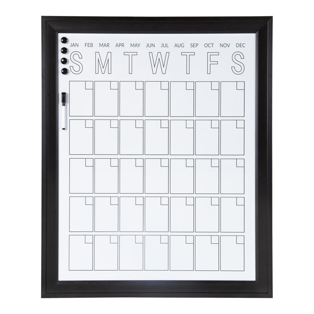 Bosc Black Monthly Calendar Memo Board