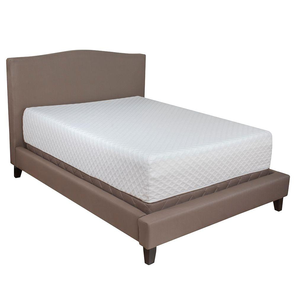 Serenia Sleep King Medium Memory Foam Mattress Hd Ssm14gg06 The Home Depot