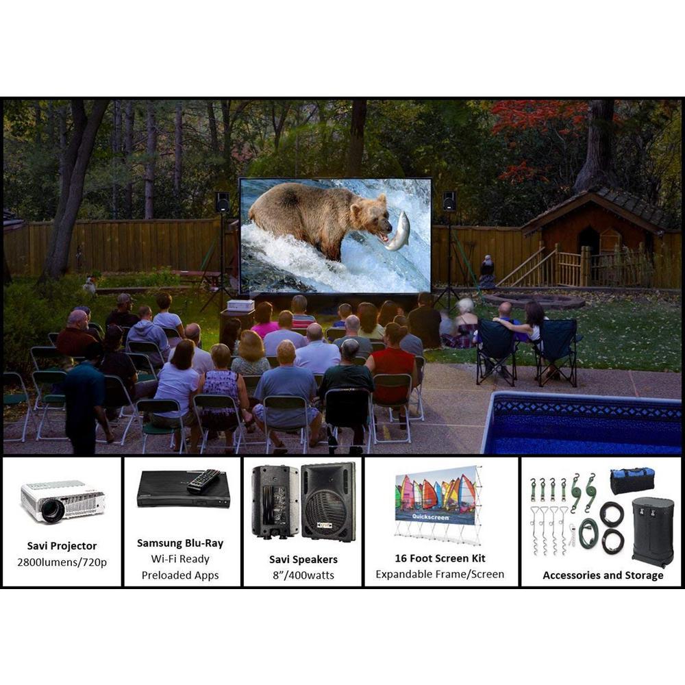 QuikScreen Series 16 ft. Backyard Theater System