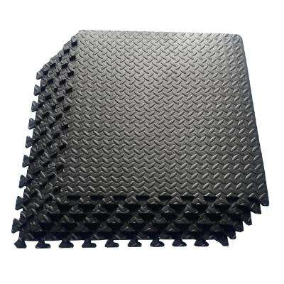 Multi-Purpose Black 24 in. x 24 in. EVA Foam Interlocking Anti-Fatigue Exercise Tile Mat (6-Pack)