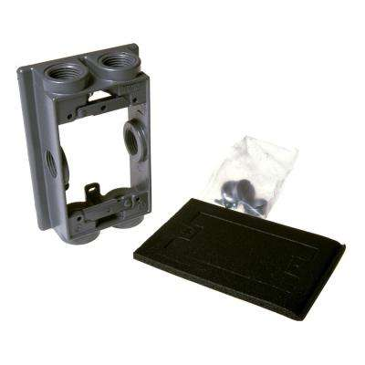 1-Gang Weatherproof Swing Arm Extension Adapter with Six 3/4 in. Outlets