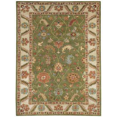 Charisma Green/Ivory 10 ft. x 14 ft. Indoor Area Rug