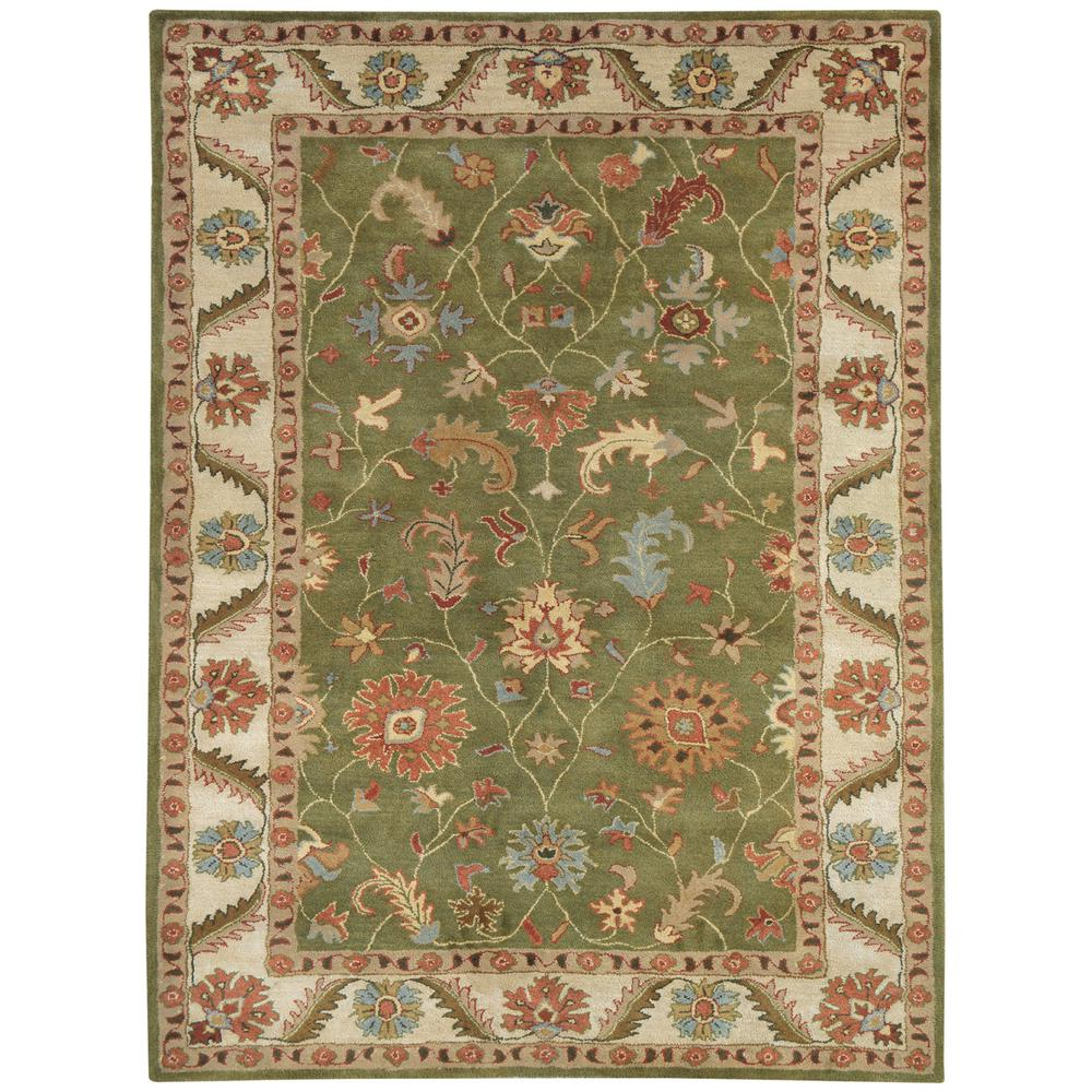 Charisma Green/Ivory 8 ft. x 11 ft. Indoor Area Rug