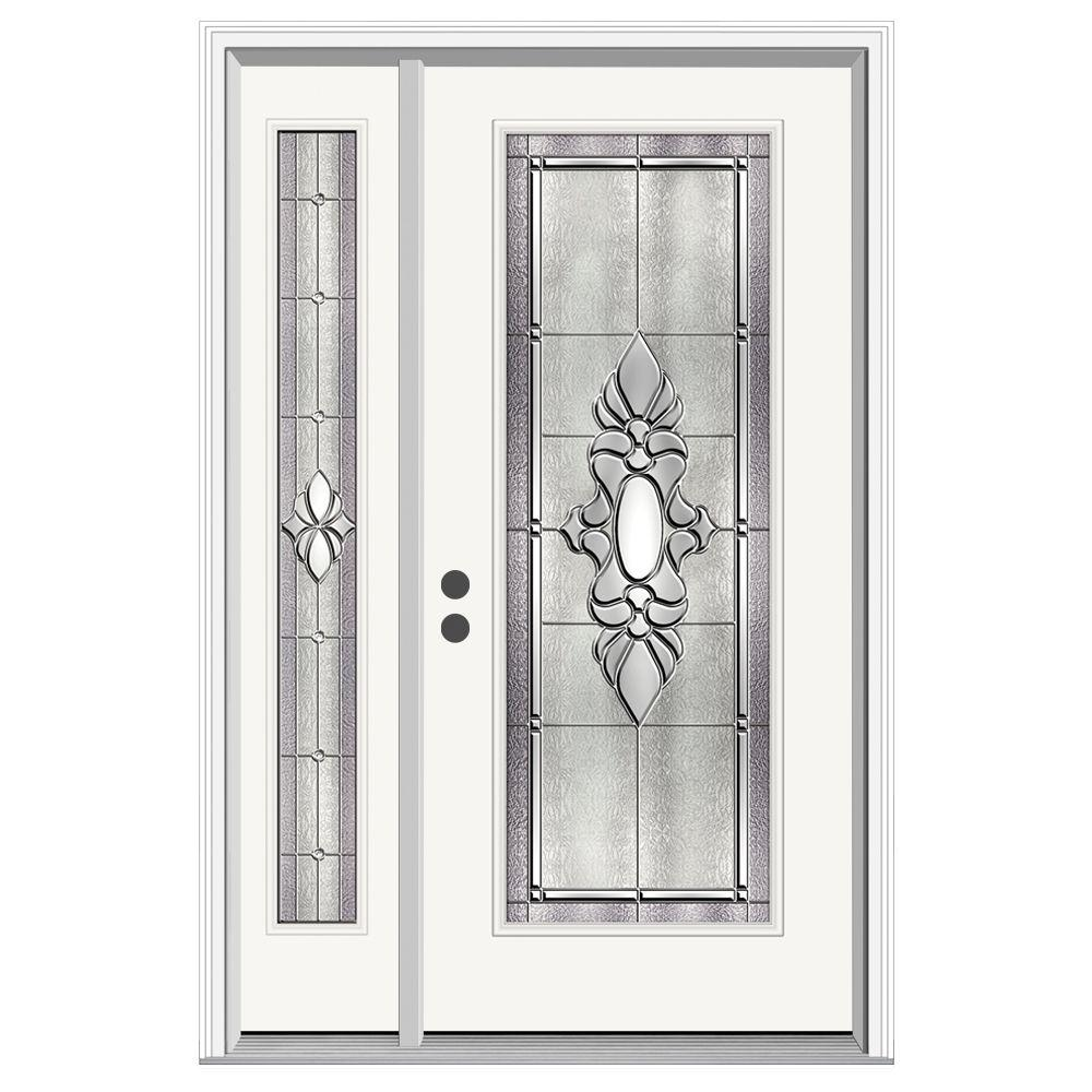 Jeld wen 52 in x 80 in full lite langford primed steel for Jeld wen front entry doors