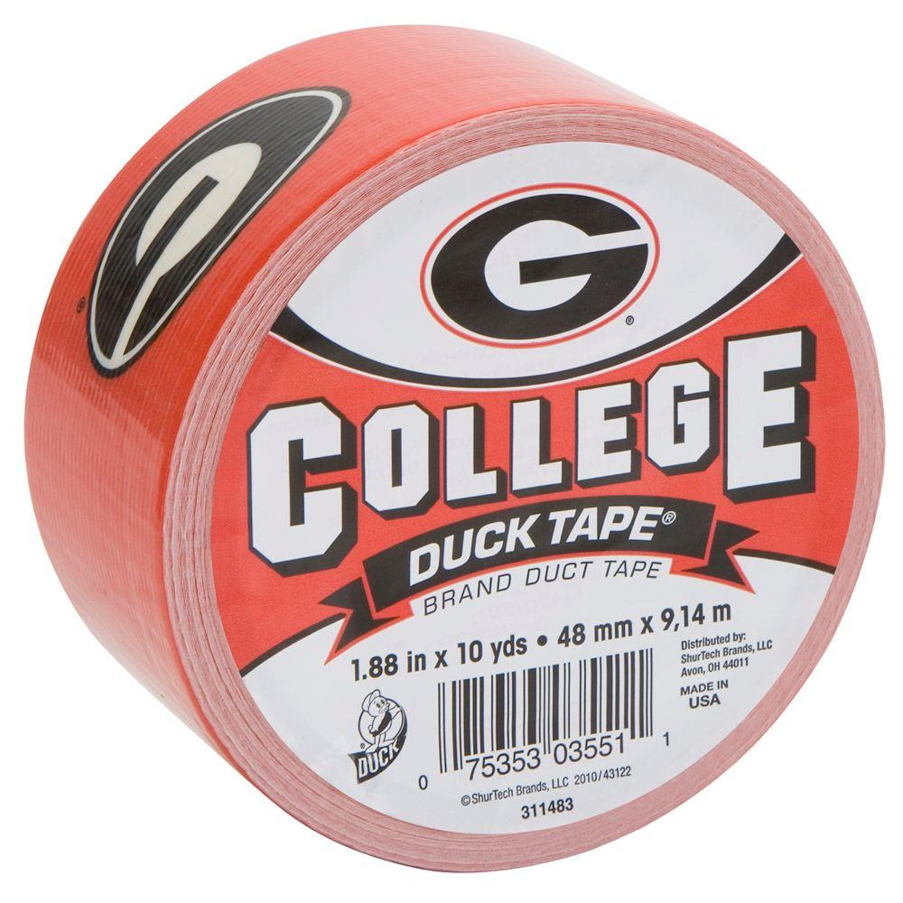 Duck College 1-7/8 in. x 30 ft. University of Georgia Duct Tape (6-Pack)