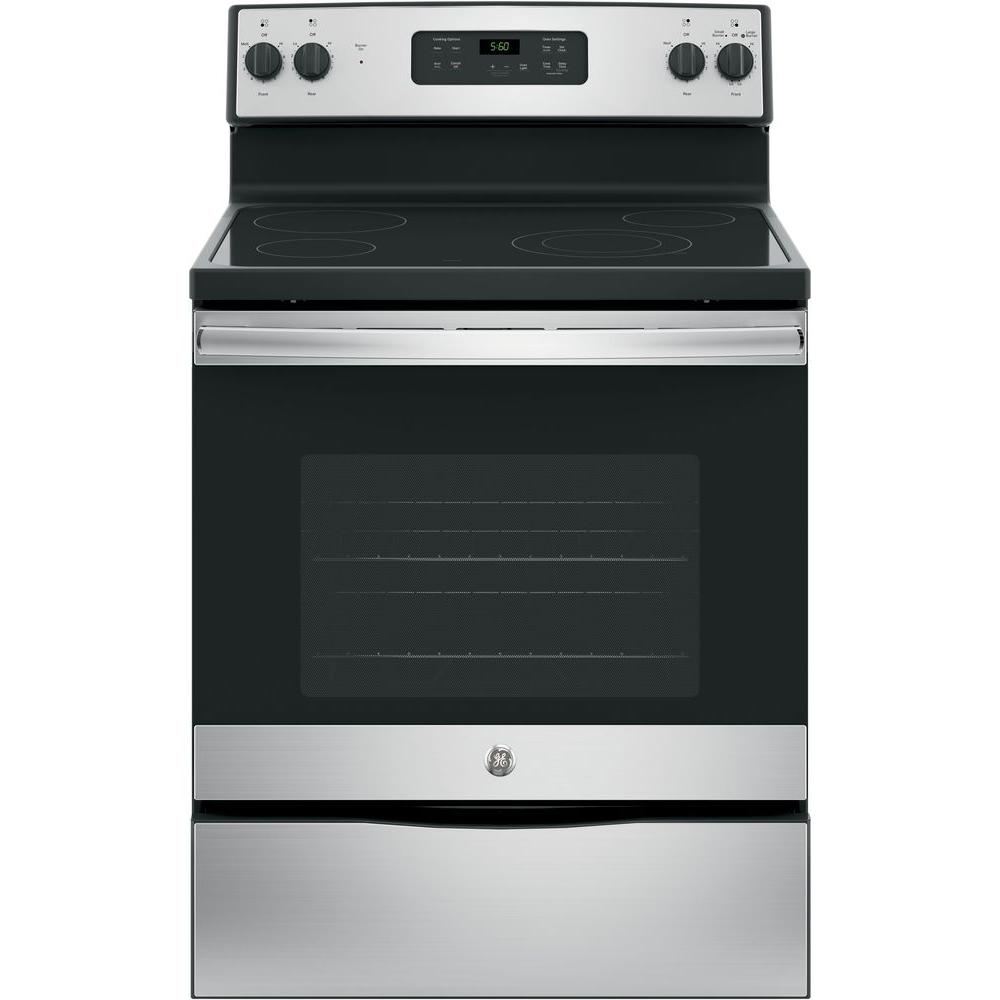 30 in. 5.3 cu. ft. Free-Standing Electric Range in Stainless Steel