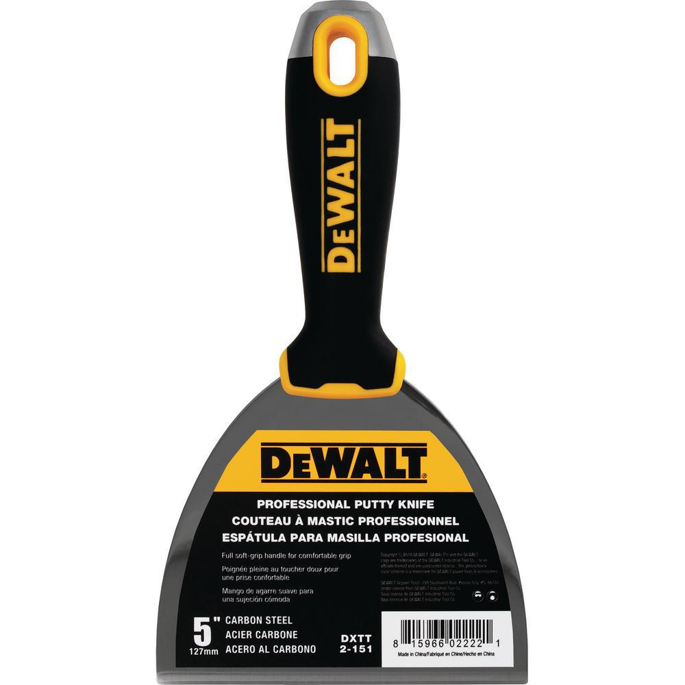 DEWALT 5 in. Stainless Steel Hammer-End Joint Knife with Soft Grip Handle
