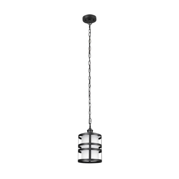 Archimedes 1-Light Matte Black Outdoor/Indoor Hanging Pendant