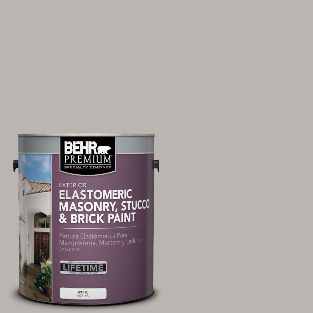 1 gal. #MS-84 French Gray Elastomeric Masonry, Stucco and Brick Exterior Paint