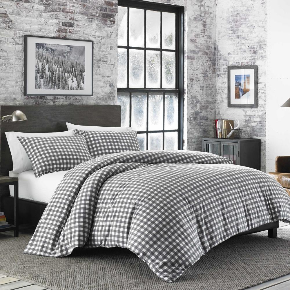 Preston 3-Piece Grey Full/Queen Comforter Set
