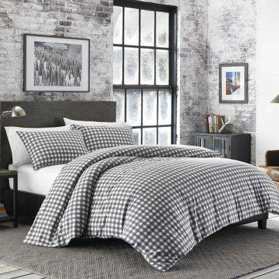 Preston 2-Piece Grey Twin Duvet Cover Set