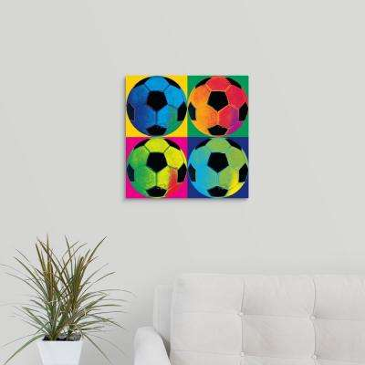 """16 in. x 16 in. """"Ball Four-Soccer"""" by Wild Apple Studios Canvas Wall Art"""