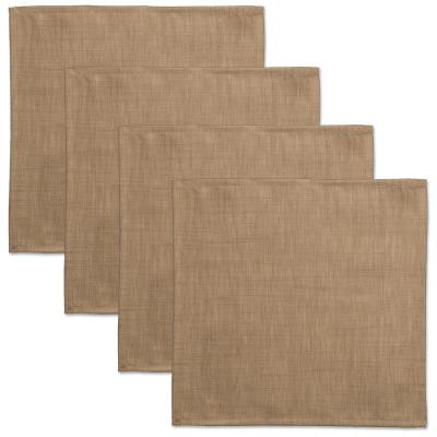Natural Wovens 18 in. x 18 in. Natural Polyester Napkin (Set of 4)