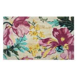 Click here to buy  A1HC First Impression Garington Botanical 24 inch x 36 inch Coir Door Mat.