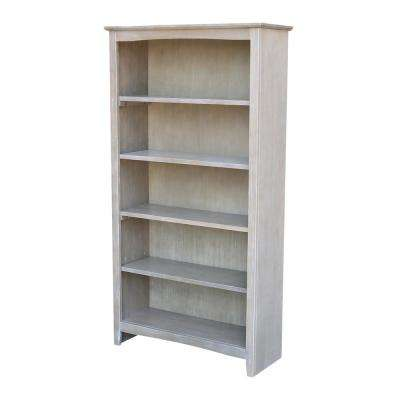 Brooklyn 60 in. H Weathered Gray Bookcase