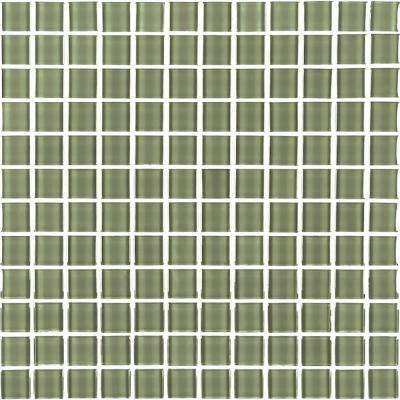 Metro Jade Green 12 in. x 12 in. x 6 mm Glass Mosaic Tile