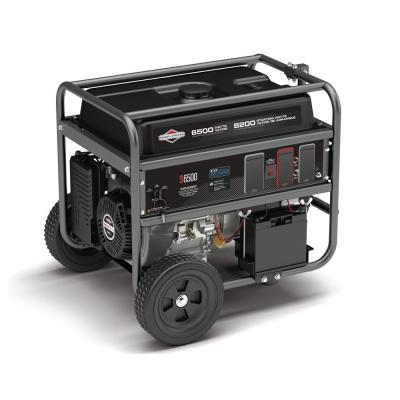 6500-Watt Electric Start Gasoline Powered Portable Generator with B and S OHV Engine Featuring CO Guard