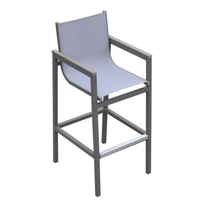 Miraculous Safavieh Gresley Grey And White Wicker Outdoor Bar Stool Ibusinesslaw Wood Chair Design Ideas Ibusinesslaworg