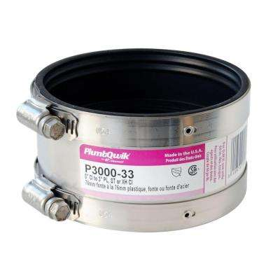 Proflex 3 in. Neoprene Shielded Coupling