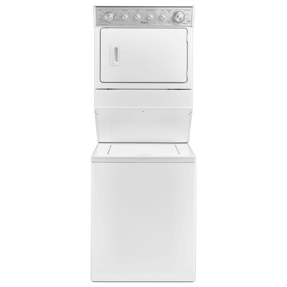 Whirlpool 25 cu ft Electric Stacked Laundry Center 8 Wash