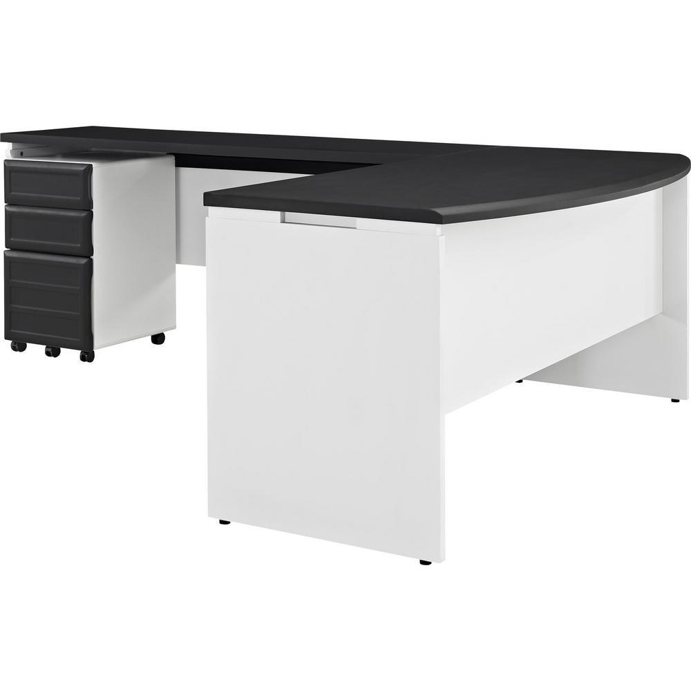 Altra Furniture Altra Pursuit White and Gray Desk with Storage 9848296